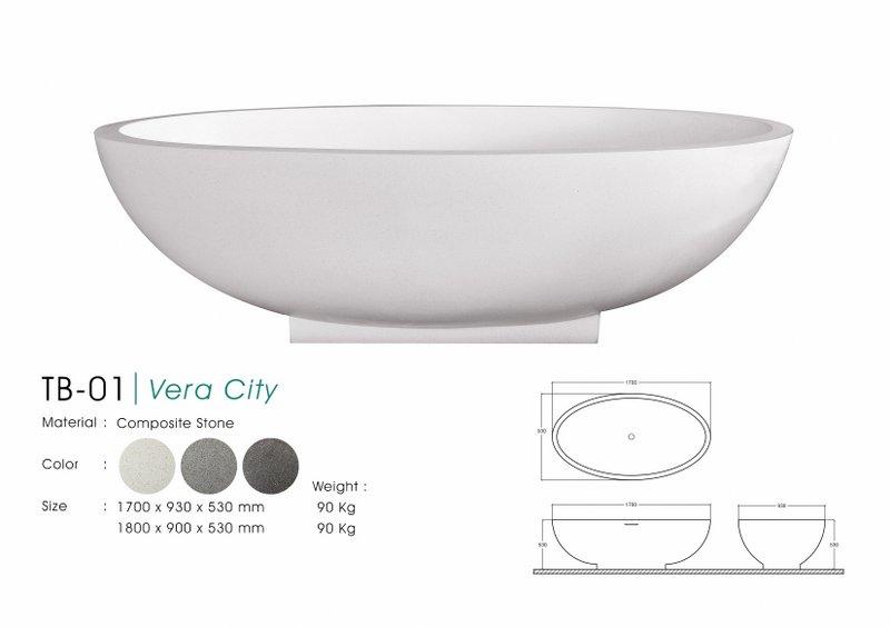 Bali Terrazzo Bathtub